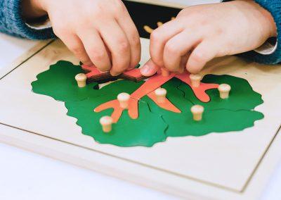 Darbas Montessori klaseje